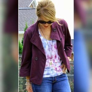 Cabi Size Small Jacket Terry Topper Purple Button